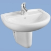 Alföldi Bázis mosdó 55 cm 1 csaplyukkal fehér