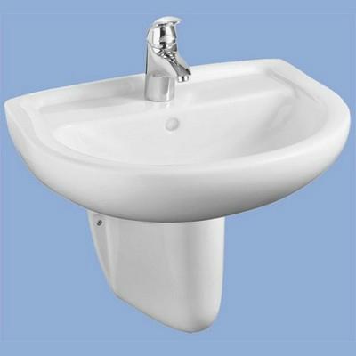 Alföldi Bázis mosdó 60 cm 1 csaplyukkal fehér
