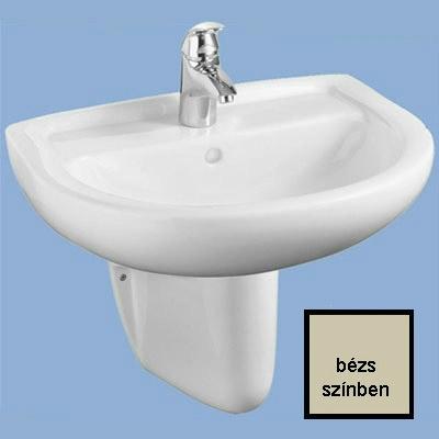 Alföldi Bázis mosdó 60 cm 1 csaplyukkal bézs
