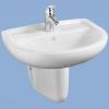 Alföldi Bázis mosdó 65 cm 1 csaplyukkal fehér