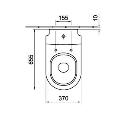 Alföldi LINER monoblokkos WC csésze műszaki rajz