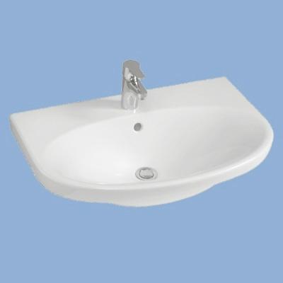 Alföldi MELINA mosdó 65 cm 1 csaplyukkal fehér easyplus