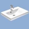 Alföldi Miron beépíthető mosdó 62 cm fehér
