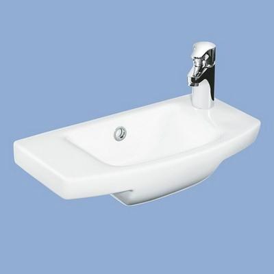 Alföldi Miron mosdó 50cm 1 csaplyukkal jobbos fehér