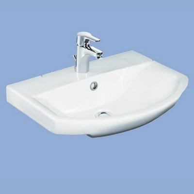 Alföldi Miron mosdó 56 cm 1 csaplyukkal fehér