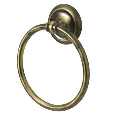 Bisk DECO antikolt réz törölközőtartó gyűrű