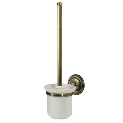 Bisk DECO antikolt réz WC kefe szett kerámia tartóval