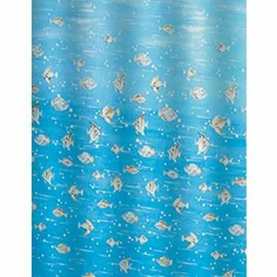 Bisk Fish kék műanyag zuhanyfüggöny