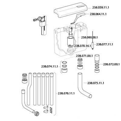 Geberit WC töltőszelep IMPULS-380 3/8 col