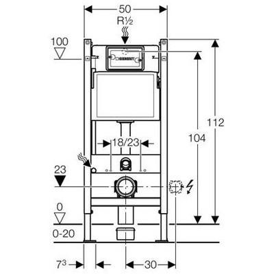geberit duofix basic szerel elem fali wc r sz re ge. Black Bedroom Furniture Sets. Home Design Ideas