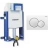 Geberit Kombifix beépíthető Sigma 12 cm WC tartály Sigma 01 fehér nyomólappal tégla falhoz
