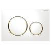 Geberit SIGMA 20 műanyag nyomólap fehér arany kombináció