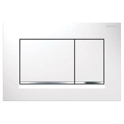 Geberit Sigma 30 műanyag nyomólap fehér fényes króm fehér kombináció