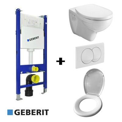 Geberit beépíthető WC tartály szett Alföldi Saval WC-vel
