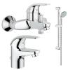 Grohe Euroeco akciós csomag 3 részes kád mosdó csaptelep zuhanyszettel