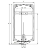 Hajdu Z30ERP fali függőleges bojler 30 liter H-2111511116 rajza