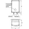 HAJDU FT10 felső szabadkifolyású bojler 10 liter H-2121221111 rajza