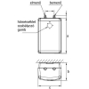 HAJDU FTA10 alsó szabadkifolyású bojler 10 liter H-2121221211 rajza
