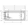 HAJDU ZV80 ErP fali vizszintes bojler 80 liter H-2111811221 rajza