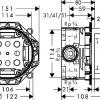 Hansgrohe Ibox universal alaptest műszaki rajz