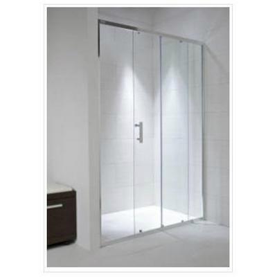 Jika Cubito Pure toló zuhanyajtó 120 cm ezüst profil átlátszó üveg
