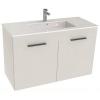 Jika Cube fürdőszobaszekrény mosdóval komplett 100 cm 2 ajtós fehér