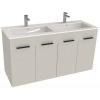 Jika Cube fürdőszobaszekrény dupla mosdóval komplett 120 cm 2 ajtós fehér
