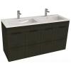 Jika Cube fürdőszobaszekrény dupla mosdóval komplett 120 cm 2 ajtós tölgy