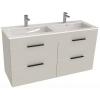 Jika Cube fürdőszobaszekrény dupla mosdóval komplett 120 cm 2 fiókos fehér