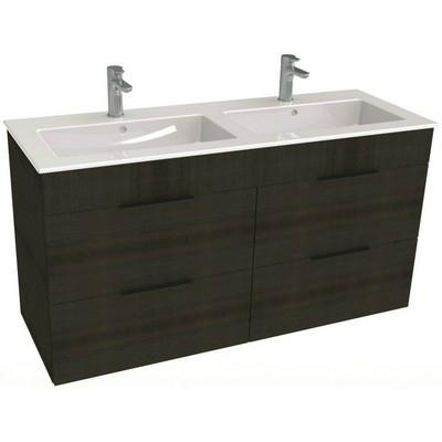 Jika Cube fürdőszobaszekrény dupla mosdóval komplett 120 cm 2 ...