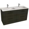 Jika Cube fürdőszobaszekrény dupla mosdóval komplett 120 cm 2 fiókos tölgy