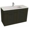 Jika Cube fürdőszobaszekrény mosdóval komplett 100 cm 2 ajtós tölgy