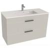 Jika Cube fürdőszobaszekrény mosdóval komplett 100 cm 2 fiókos fehér