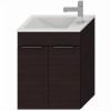 Jika Cube fürdőszobaszekrény mosdóval komplett 50 cm 2 ajtós csaplyuk oldalt tölgy