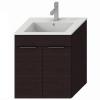 Jika Cube fürdőszobaszekrény mosdóval komplett 55 cm 2 ajtós tölgy