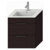 Jika Cube fürdőszobaszekrény mosdóval komplett 55 cm 2 fiókos tölgy