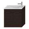 Jika Cube fürdőszobaszekrény mosdóval komplett 60 cm 2 ajtós csaplyuk oldalt tölgy