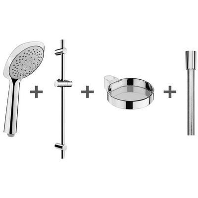 Jika Cubito-N zuhanyszett zuhanyrúddal szapantartóval króm