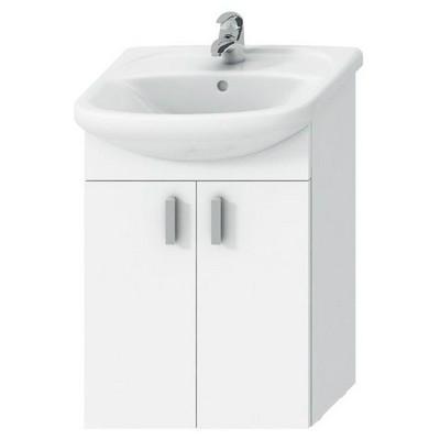 Jika Lyra pack fürdőszobaszekrény 53 cm mosdóval komplett 2 ajtóval fehér fehér