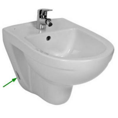 Jika Lyra Plus fali bidé fehér oldalsó vízbevezetéssel