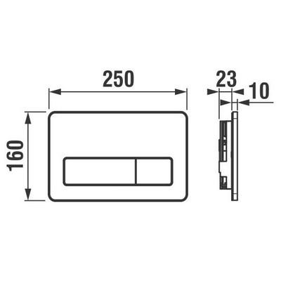 Jika PL3 kétmennyiséges nyomólap műszaki rajz