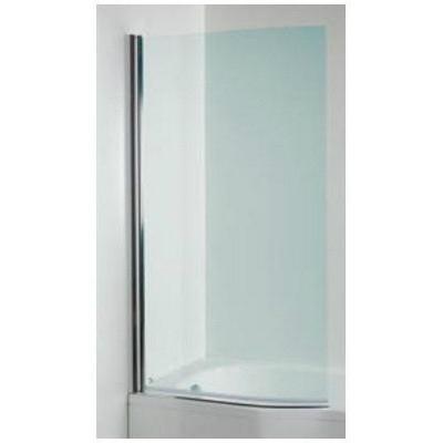 Jika Tigo íves kádparaván perla GLASS balos 150x80 cm ezüst profil átlátszó üveg