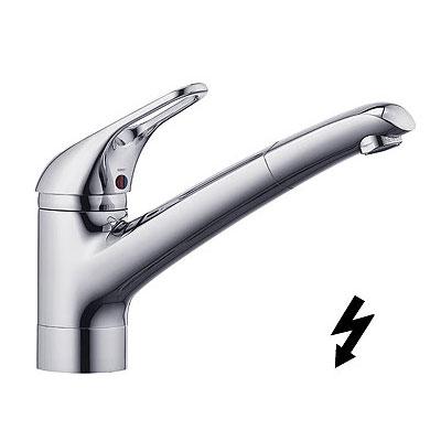 Kludi KOMET egykaros mosogató csaptelep bojlerhez kihúzható zuhanyfejjel króm
