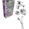 Kludi Logo Neo csomag 3 az egyben mosdó és kád csaptelep Zenta zuhanyszettel