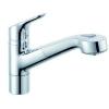 Kludi Objekta egykaros mosogató csaptelep kihúzható zuhanyfejjel króm