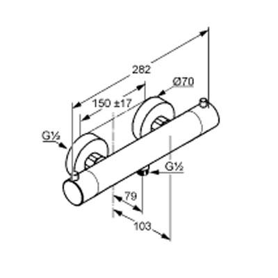 kludi objekta mix new termoszt tos zuhany csaptelep kr m 352000538. Black Bedroom Furniture Sets. Home Design Ideas