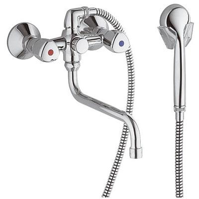 Kludi Standard SPEZIAL kádtöltő és zuhanycsaptelep zuhanyszettel 250 mm króm