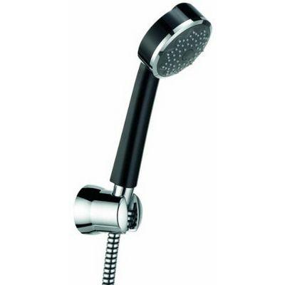 Kludi Zenta 1S fali zuhany garnitúra fix tartóval fekete