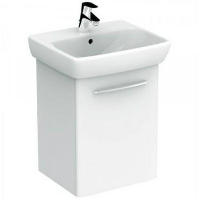 Kolo Nova Pro fürdőszoba szett fehér szekrénnyel mosdó csaplyukkal 55 cm