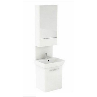 Kolo Nova Pro fürdőszoba szett tükrös szekrénnyel kézmosóval panellel komplett 55 cm